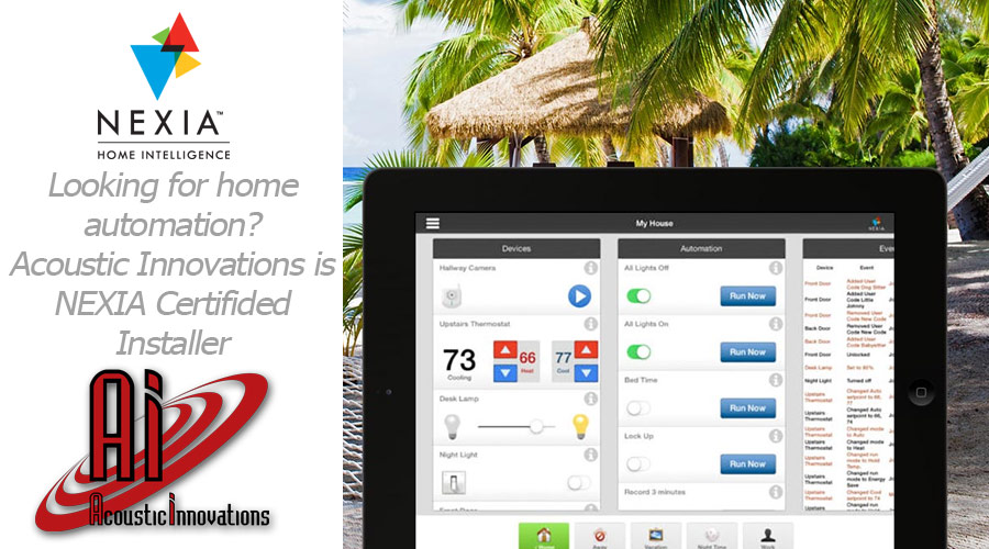 Looking for home automation? Acoustic Innovations is a NEXIA certified installer!